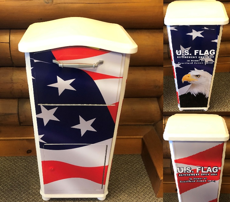 Courtland James Daley Flag Drop Box Picture